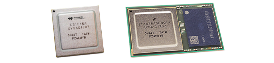 Qormino® 宇航级封装处理解决方案: LS1046-Space 和 QLS1046-4GB-Space。